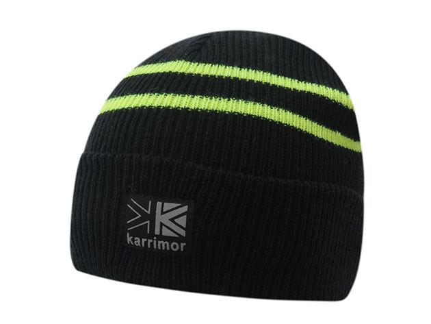 Karrimor RUN sapka futáshoz / fekete-neon sárga (76539403_SM)