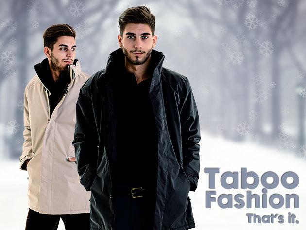 Vastag, bélelt, kapucnis dzseki férfiaknak több színben, az igazán hideg téli hónapokra (S-XXXL) sportosan elegáns stílus