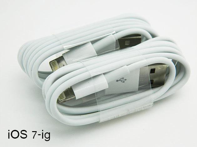 Apple iPhone 5/5S kábel iOS 7-ig kompatibilis (8 PIN)