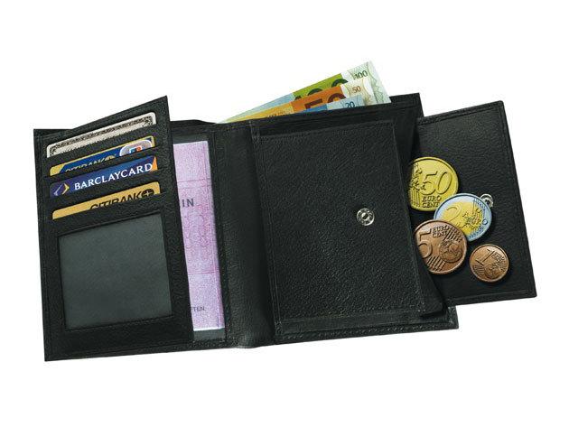 Messina fekete bőrpénztárca