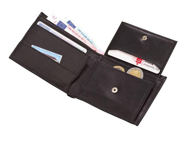 Palermo fekete bőrpénztárca