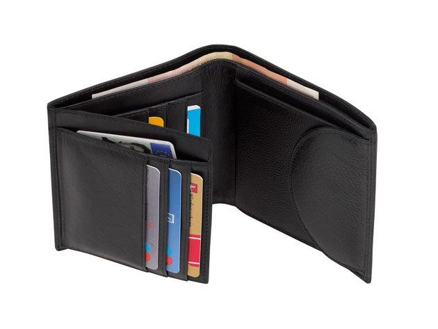 Dow Jones fekete bőrpénztárca