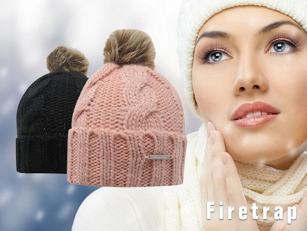 Firetrap bojtos téli sapka - stílusos női kötött fejfedő a hidegebb hónapokra