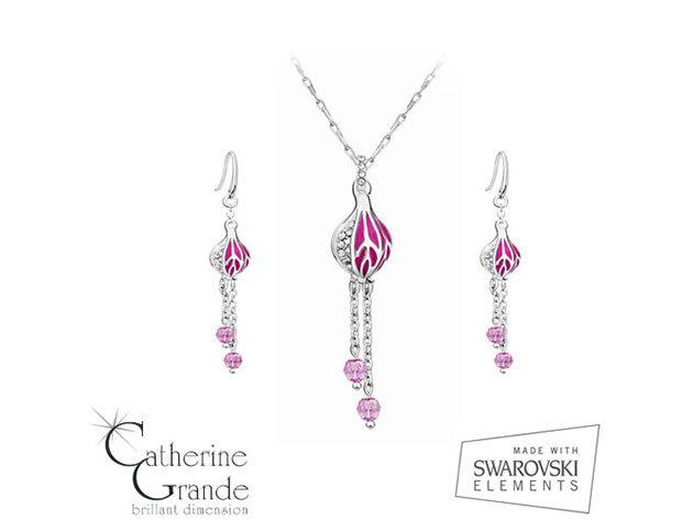 Rózsabimbó - Swarovski kristályos ékszetszett
