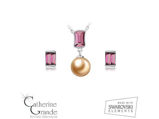 Rózsaszín álom - Swarovski kristályos ékszerszett