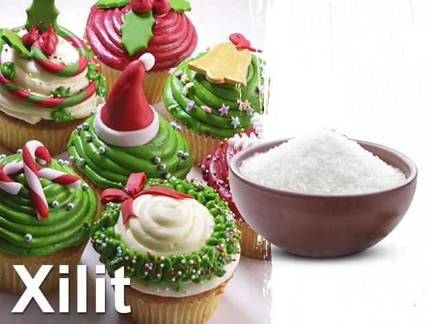 Xilit 1 kg, 100% - nyírfacukor, mely kb. 40 %-kal kevesebb kalóriát tartalmaz, mint a cukor (240 kcal/100 gramm)