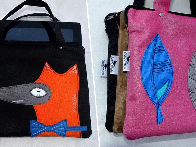 Tablet táskák magyar tervezőtől, egyedi mintákkal, strapabíró gyöngyvászon anyagból (27 cm x 21 cm) - ajándékozd meg magad, vagy szerettedet!