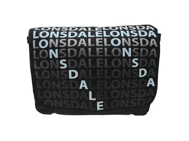Lonsdale oldaltáska - fekete 30x40x10cm  - 70917203