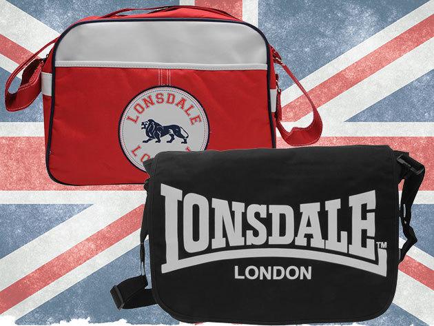 Lonsdale Messenger Bag - egy szuper, strapabíró oldaltáska a mindennapokra, vagy az edző felszerelésnek (30x40x10cm)