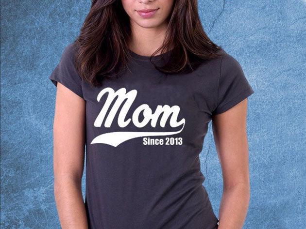 Mom since... évszámos női póló (választható évszám)