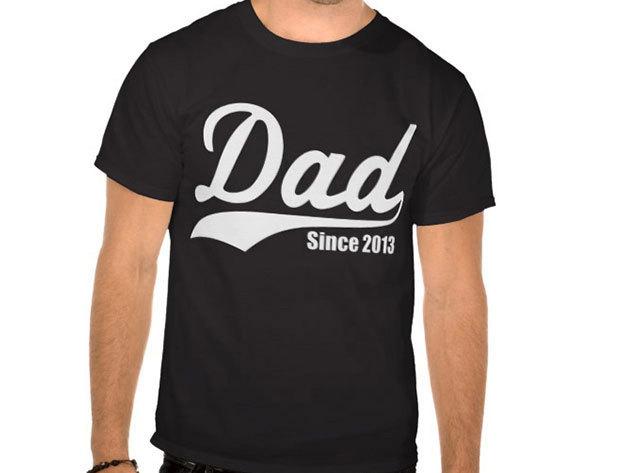 Dad since... évszámos férfi póló (választható évszám)