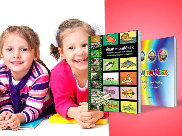 Állati mondókák I. II. és Rainbow music - Magyar és angol nyelvű gyermekkönyvek a játékos tanuláshoz