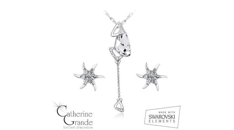 Kristálycsepp - Swarovski kristályos ékszerszett