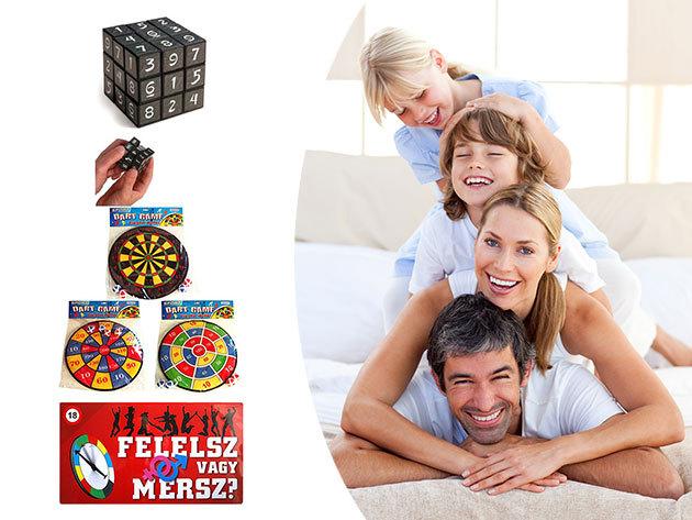Felelsz vagy mersz 18+, Sudoku kocka, Darts tábla / Játékok a téli estékre kicsiknek és nagyoknak