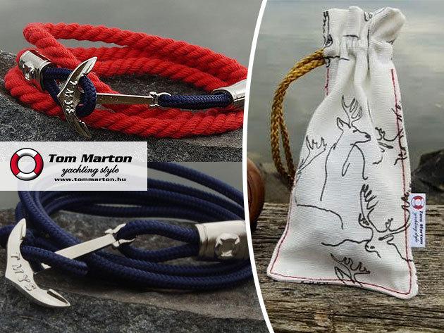 Tom Marton yachting style 'Winter Selection' kollekciója - minőségi, divatos, 100% kézimunkával készült karkötők, ezüstös csillogással, dizájnos dísztasakban