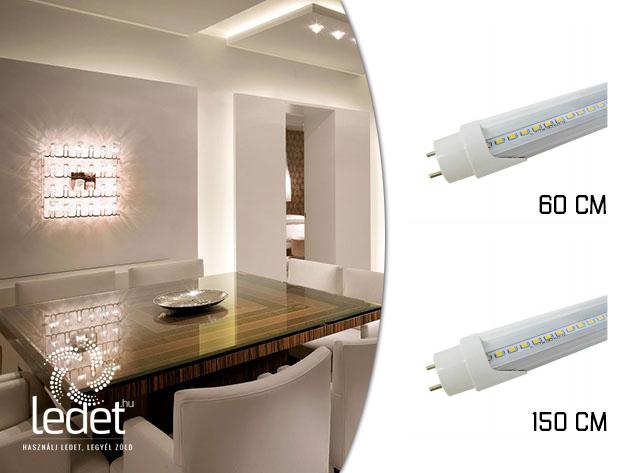 LED fénycső (60 és 150 cm-es, T8 ) energiatakarékos világítás elérhető áron, 2 év garanciával!