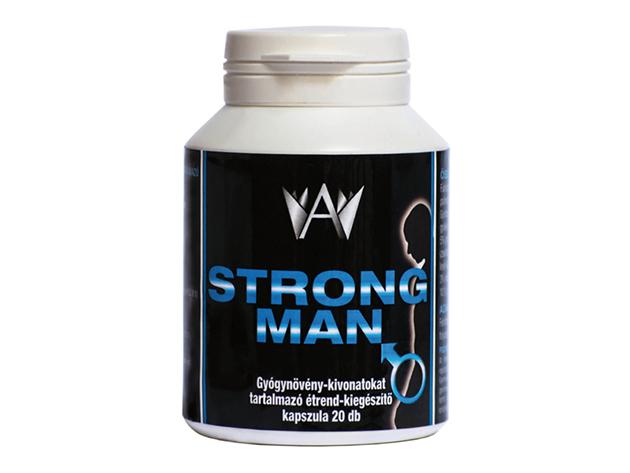 Teljesítménynövelő Strong Man kapszula természetes összetevőkből, gyógynövény-kivonatokkal (20 db kapszula/doboz)
