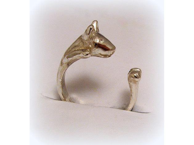 Kutyás ezüst gyűrű - Bullterrier
