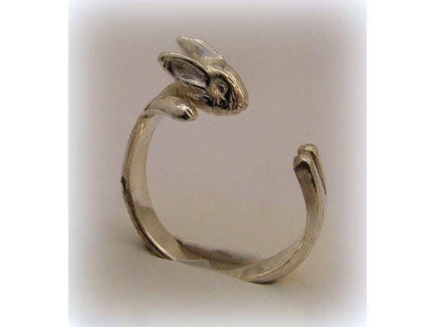 Nyuszis ezüst gyűrű