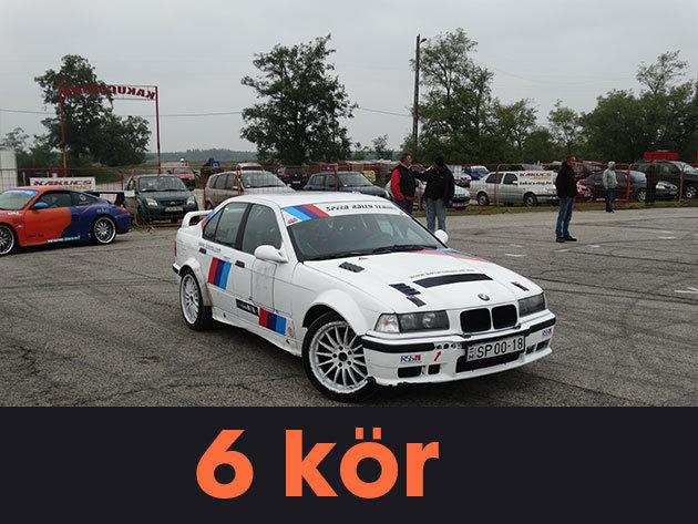 """6 kör vezetés egy BMW E36 """"F"""" csoportos rally versenyautóval a Kakucs-Ringen"""