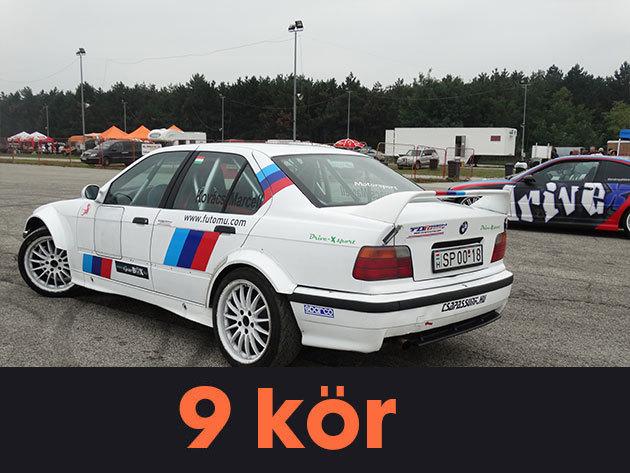 """9 kör (megosztható) vezetés egy BMW E36 """"F"""" csoportos rally versenyautóval a Kakucs-Ringen"""