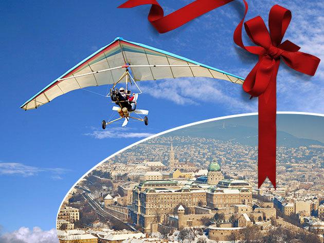 Élményrepülés motoros sárkányrepülővel, akár videó felvétellel, Budapest körzetében - 20 perc a magasban