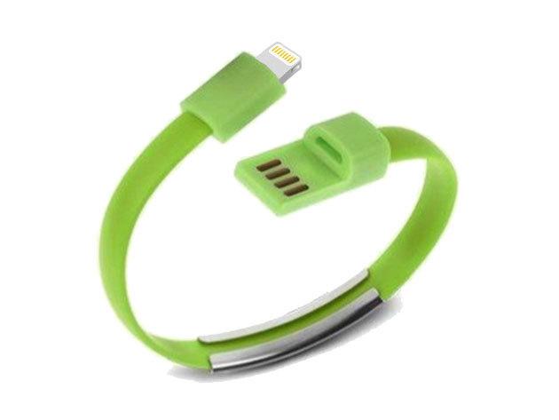 Karkötő adatkábel (Micro USB csatlakozóval) - ZÖLD - AZONNAL ÁTVEHETŐ