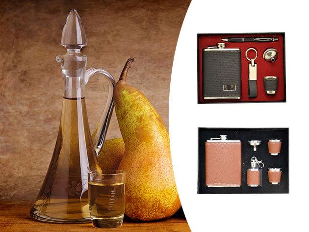Fém laposüveg szettek díszdobozban, egyedi dekorációval  - kitűnő ajándék férfiak számára!