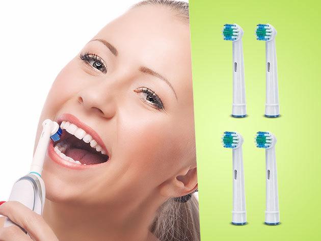 Oral-B és Braun elektromos fogkefékkel kompatibilis fej, 4, 12 vagy 20 db-os kiszerelésben