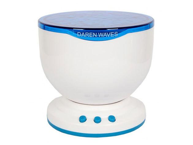 Projektoros óceán hangulatlámpa hangszóróval