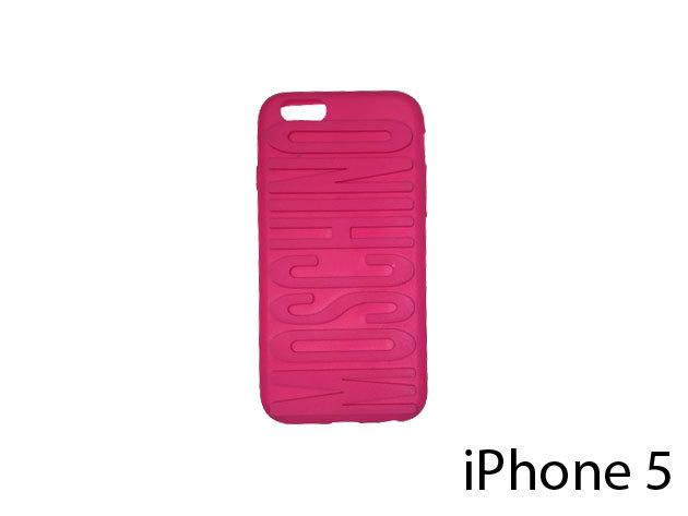 Moschino feliratú szilikon telefontok iPhone 5-re (ciklámen)