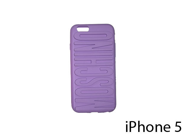 Moschino feliratú szilikon telefontok iPhone 5-re (lila)