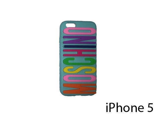 Moschino feliratú szilikon telefontok iPhone 5-re (multikolor)