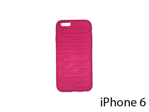 Moschino feliratú szilikon telefontok iPhone 6-ra (ciklámen)