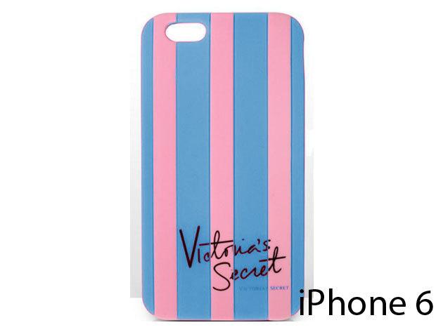 Victoria Secret feliratú szilikon telefontok iPhone 6-ra (rózsaszín-kék)