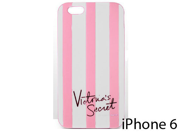 Victoria Secret feliratú szilikon telefontok iPhone 6-ra (rózsaszín-fehér)