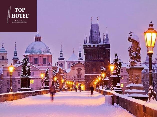 PRÁGA - 3 nap/2 éjszaka szállás a Top Hotel Praha****-ban 2 fő számára: félpanziós ellátás + korlátlan wellness