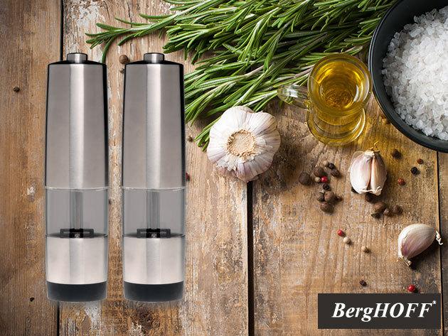 BergHOFF Geminis elektromos só- és borsőrlő készülékek (2 db) - prémium konyhai kiegészítők