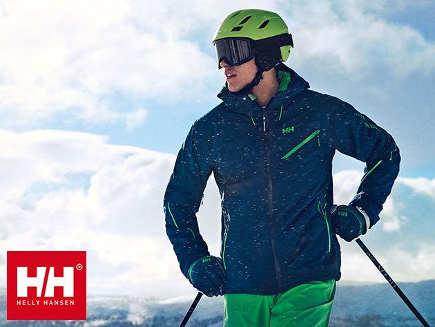Helly Hansen professzionális férfi dzsekik és nadrágok síeléshez vagy mindennapos használatra, vízálló, szélálló és lélegző anyagból, RECCO® mentési rendszerrel