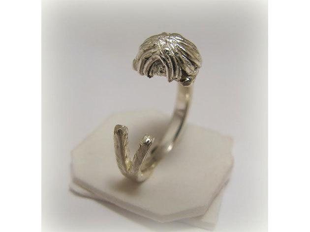 Kutyás ezüst gyűrű - Puli