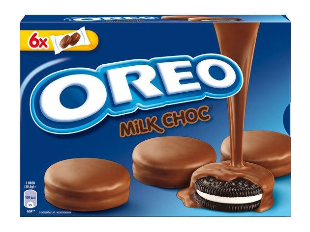 Oreo keksz tejcsokiba mártva (6x2 db/csomag, 246 gramm)