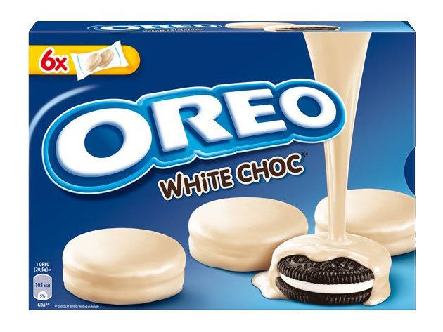 Oreo keksz fehércsokiba mártva (6x2 db/csomag, 246 gramm)