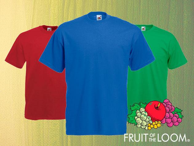 Férfi pólók (3 db/csomag) rövid ujjú, kerek nyakú fazon, 100% pamutból - Fruit of the Loom