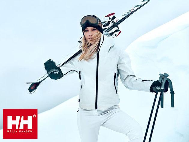 Helly Hansen professzionális női dzsekik és nadrágok síeléshez vagy mindennapos használatra, vízálló, szélálló és lélegző anyagból, RECCO® mentési rendszerrel és számos kiemelkedő funkcióval