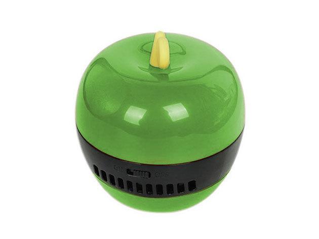 Mini asztali vákuum portalanító morzsa porszívó - zöld