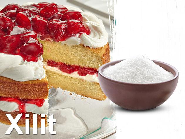 Xilit 1 kg, 100% - nyírfacukor, mely kb. 40%-kal kevesebb kalóriát tartalmaz, mint a cukor (240 kcal/100 gramm)