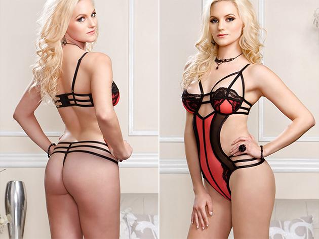 Horgolt piros sexy body 4bdccf1271