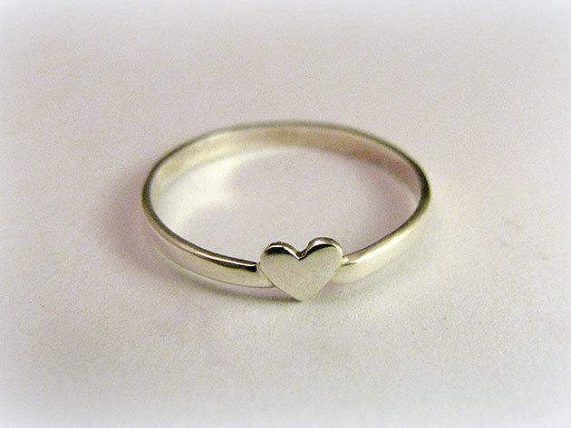 Szívecskés gyűrű (választható méret)