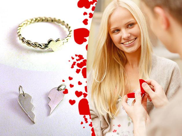 Ezüst gyűrűk és medálok Valentin napra, magyar ötvös által megálmodva és kivitelezve - egyedi ékszerek