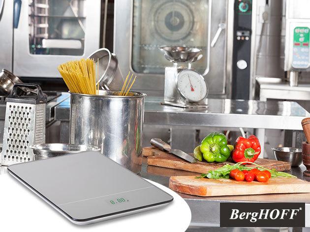 BergHOFF Neo konyhai mérleg nagy felbontású zöld LED kijelzővel, modern dizájnnal,  6 hónap garanciával